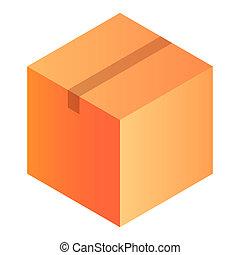 Warehouse box icon, isometric style