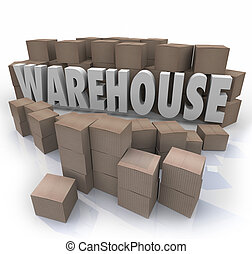 Warehouse Boxes Inventory Management Storage - Warehouse...
