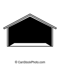 warehouse building isolated icon
