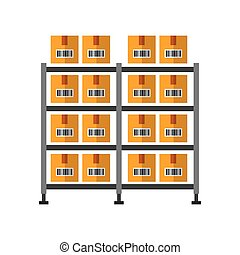 warehouse case isolated icon vector illustration design