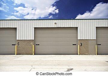 Warehouse Entrance Gate. Logistics, Transportation, Storage...