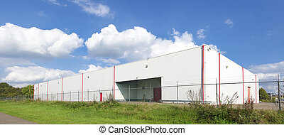 warehouse exterior - large white warehouse against a nice ...