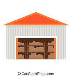 Warehouse flat icon