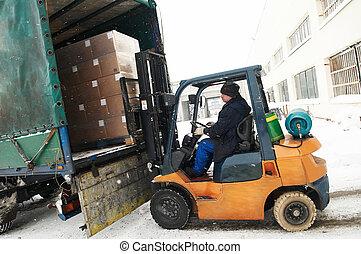 warehouse forklift loader work - warehouse forklift loader ...