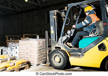warehouse forklift loader works - forklift loader at ...