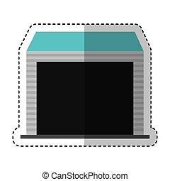 warehouse garage isolated icon
