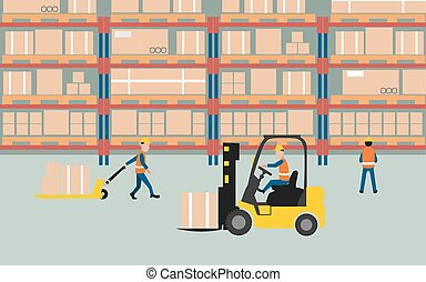 wareHouse - graphic of working in warehouse