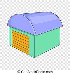 Warehouse icon, cartoon style
