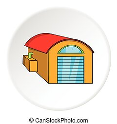 Warehouse icon, cartoon style
