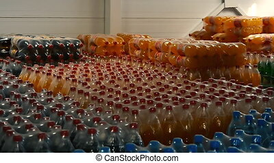 Warehouse in the production of carbonated water