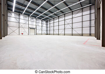 Warehouse interior - Interior of an empty warehouse