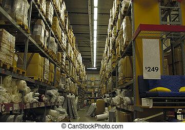 Interior shot of a local warehouse retailer