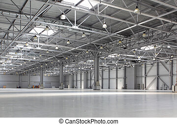 Warehouse - Interior of empty warehouse