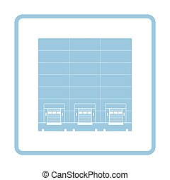 Warehouse logistic concept icon