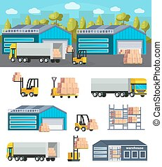 Warehouse Logistics Concept