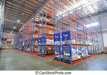Warehouse Logistics - A large storage warehouse