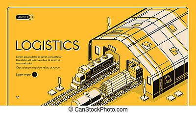 Warehouse logistics, railway wood global shipping
