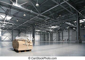 Warehouse of shopping center
