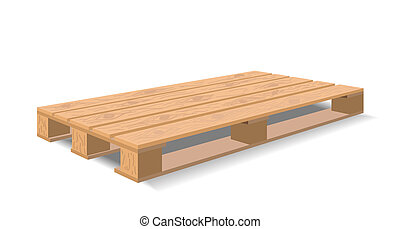 Warehouse pallet. - A wooden pallet is shown in the picture....