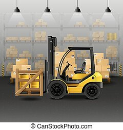 Warehouse Realistic Composition - Warehouse realistic...