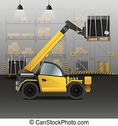 Warehouse Realistic Illustration