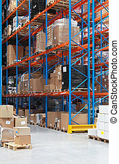 Warehouse shelving - High rack shelving system in...
