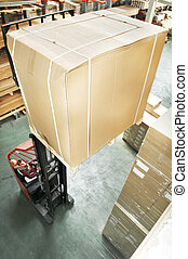 warehouse stacker at work - warehouse stacker forklift...