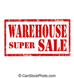 Warehouse-stamp - Grunge rubber stamp with text...