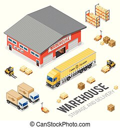 Warehouse Storage and Delivery Isometric