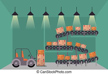 warehouse storage design, vector illustration eps10 graphic