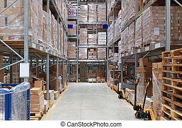 Warehouse storage - Storage shelving system in distribution...