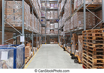 Warehouse storage - Storage shelving system in distribution ...