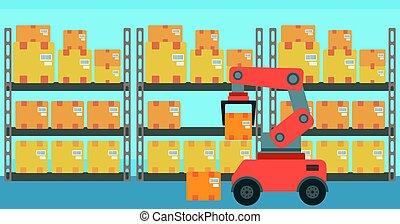 Warehouse transportation robot.