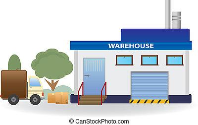 Warehouse. Vector for you design