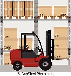 Warehouse vector illustration