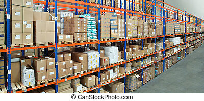 Warehouse with high bay