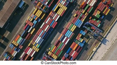 Warehouse with many containers - Odessa, Ukraine - 24 July...
