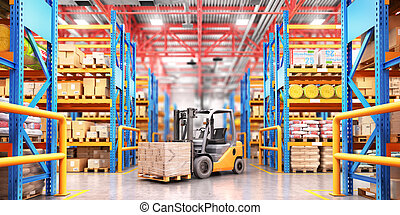 Warehouse with variety of timber for construction and repair...
