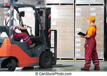 warehouse works (forklift and workers) - warehouse laborer...