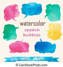 Waretcolor Speech And Thought Bubbles
