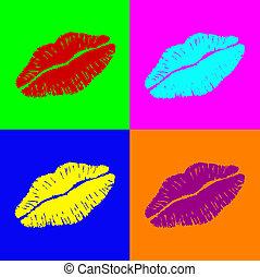 warhol, lèvres