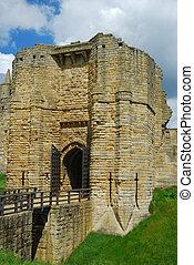 Warkworth Castle entrance tower