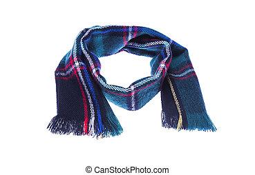 Warm checkered scarf.