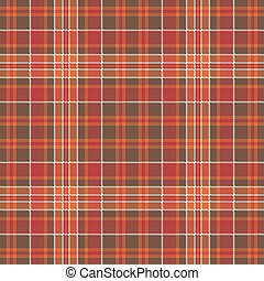 Warm color check plaid square pixel seamless pattern. Vector...