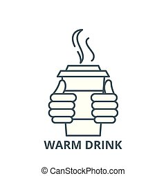 Warm drink vector line icon, linear concept, outline sign, symbol