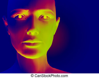 Warm Face - A female face with an infrared feel to it.