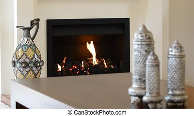 Warm Fireplace  - Fireplace in a warm living room