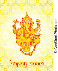 Ganesha postcard - Warm Ganesha postcard for Indian Onam...
