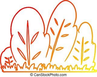 warm gradient line drawing cartoon hedge - warm gradient ...