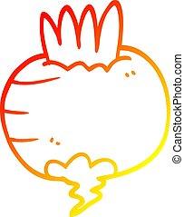 warm gradient line drawing cartoon swede - warm gradient...